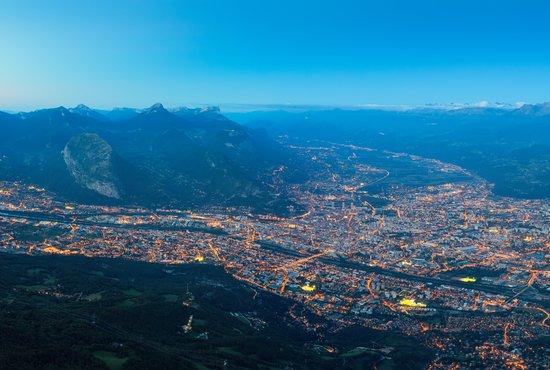 Vue de Grenoble depuis le Vercors