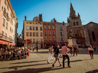Place Saint André dans le vieux centre ville de Grenoble