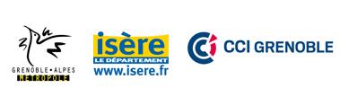 Logos des financeurs du Bureau des Congrès de Grenoble
